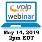 Telinta and VoIP Supply webinar for VoIP service providers and ITSPs: May 14, 2019. 2pm EDT